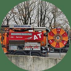A&T Rohrreinigung Stuttgart Kanalreinigung mit Wasserrückgewinnung